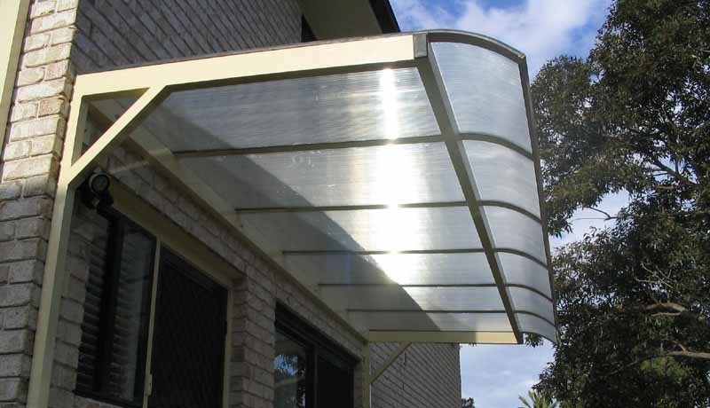 Polycarbonate Cantilevered Awnings